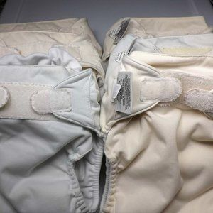 Six Cloth Diapers / Pocket Diapers, BumGenius